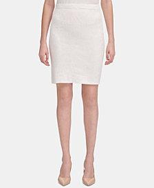 Calvin Klein Jacquard-Knit Pencil Skirt