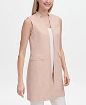 68f0e2438f Calvin Klein Faux-Suede Open-Front Vest