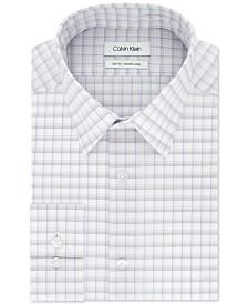 Calvin Klein Men's Slim-Fit Stretch Collar Check Dress Shirt