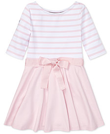 Polo Ralph Lauren Toddler Girls Striped Ponté-Knit Dress