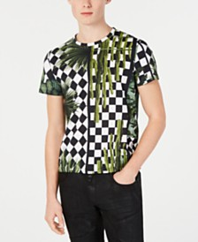 Just Cavalli Men's Check Garden Graphic T-Shirt