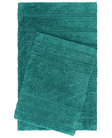 Home Dynamix Nicole Miller Newton Reversible Cut and Loop Stripe 2-Piece Cotton Bath Mat Set