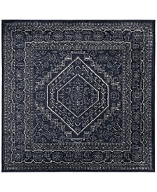 Adirondack Navy and Ivory 6' x 6' Square Area Rug