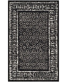 "Safavieh Adirondack Black and Silver 2'6"" x 4' Area Rug"