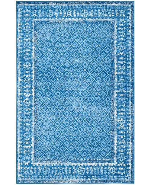 "Safavieh Adirondack Light Blue and Dark Blue 5'1"" x 7'6"" Area Rug"