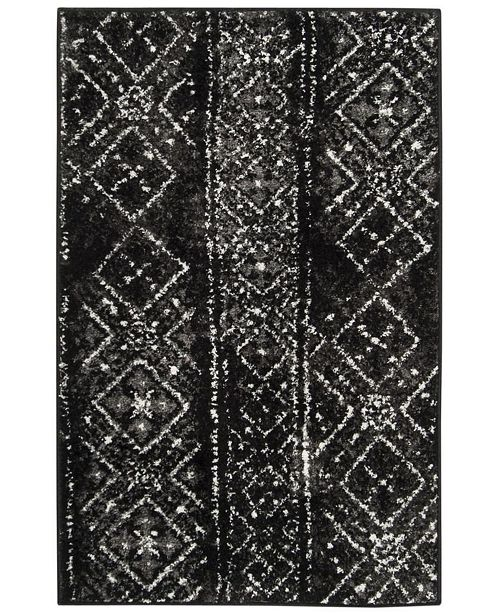 Adirondack 111 Black And Silver Area Rug Collection