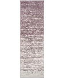 "Adirondack Cream and Purple 2'6"" x 8' Runner Area Rug"