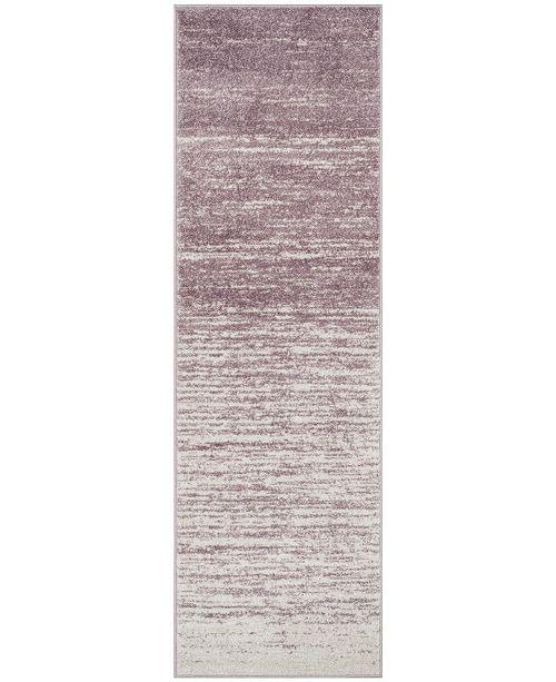 "Safavieh Adirondack Cream and Purple 2'6"" x 8' Runner Area Rug"