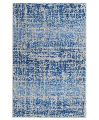 Adirondack Blue and Silver 4' x 6' Area Rug