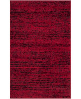 Adirondack Red and Black 3' x 5' Area Rug