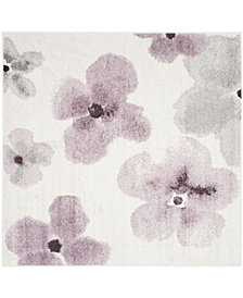 Safavieh Adirondack Ivory and Purple 6' x 6' Square Area Rug