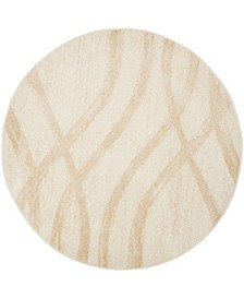 Adirondack Cream and Champagne 6' x 6' Round Area Rug