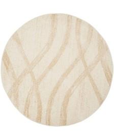 Safavieh Adirondack Cream and Champagne 6' x 6' Round Area Rug