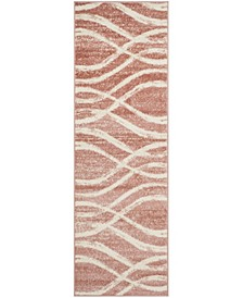 "Adirondack Rose and Cream 2'6"" x 8' Runner Area Rug"