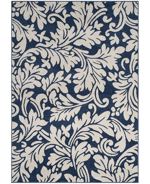 Safavieh Amherst Navy and Ivory 5' x 8' Area Rug