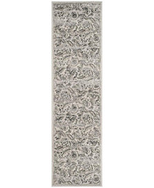 """Safavieh Carnegie Silver and Gray 2'3"""" x 8' Area Rug"""