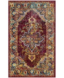 Crystal Ruby and Navy 3' x 5' Area Rug