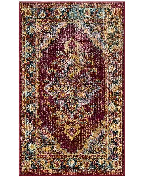 Safavieh Crystal Ruby and Navy 3' x 5' Area Rug