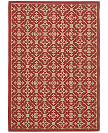 """Safavieh Courtyard Red and Creme 5'3"""" x 7'7"""" Area Rug"""