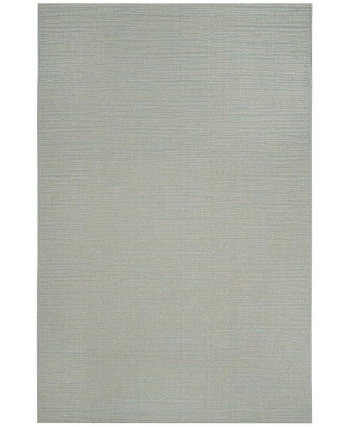 "Safavieh Courtyard Aqua and Cream 5'3"" x 7'7"" Sisal Weave Area Rug"