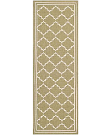 "Safavieh Courtyard Green and Beige 2'3"" x 6'7"" Sisal Weave Area Rug"