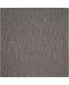 "Safavieh Courtyard Black and Beige 6'7"" x 6'7"" Sisal Weave Square Area Rug"