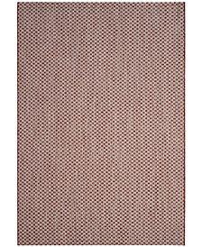 "Safavieh Courtyard Rust and Light Gray 5'3"" x 7'7"" Sisal Weave Area Rug"
