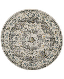 "Safavieh Evoke Gray and Gold 5'1"" x 5'1"" Round Area Rug"