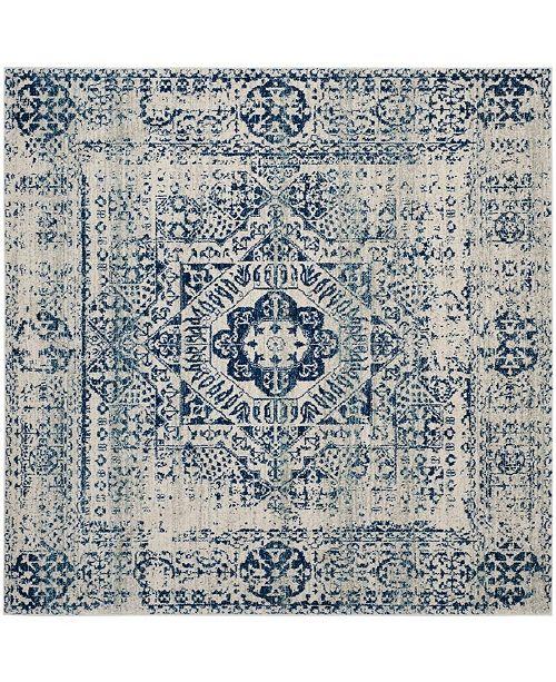 "Safavieh Evoke Ivory and Blue 6'7"" x 6'7"" Square Area Rug"
