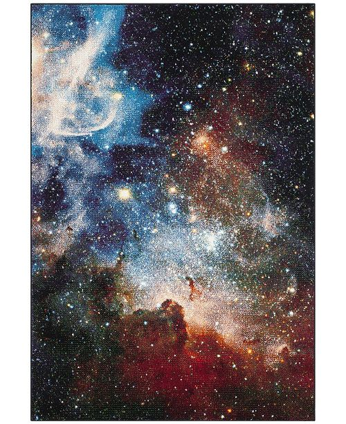 "Safavieh Galaxy Purple and Multi 5'3"" x 7'6"" Area Rug"