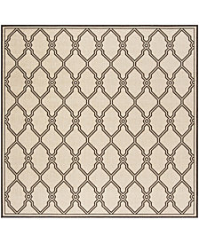 "Safavieh Linden Natural and Brown 6'7"" x 6'7"" Square Area Rug"