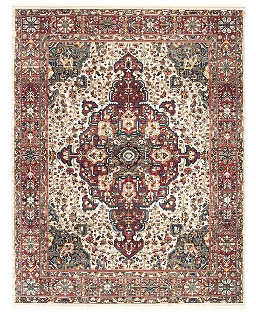 Safavieh Kashan Ivory and Blue 8' x 10' Area Rug