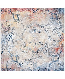 Monray Red and Multi 7' x 7' Square Area Rug