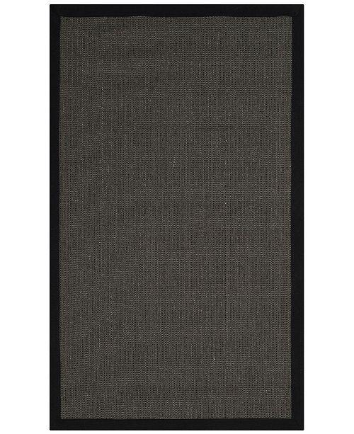 Safavieh Natural Fiber Anthracite and Black 3' x 5' Sisal Weave Area Rug