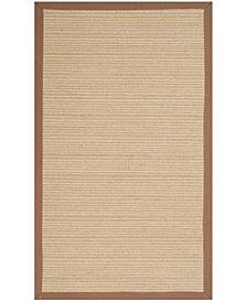 Safavieh Natural Fiber Multi and Light Brown 3' x 5' Sisal Weave Area Rug