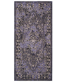 "Safavieh Palazzo Purple and Black 2'6"" x 5' Area Rug"