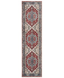 "Vintage Persian Red and Blue 2'2"" x 8' Runner Area Rug"