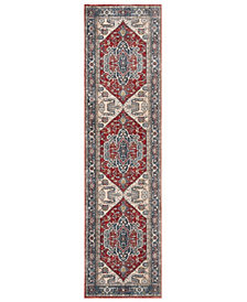 """Safavieh Vintage Persian Red and Blue 2'2"""" x 8' Area Rug"""