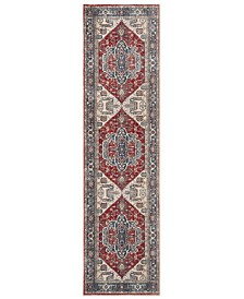 """Safavieh Vintage Persian Red and Blue 2'2"""" x 8' Runner Area Rug"""