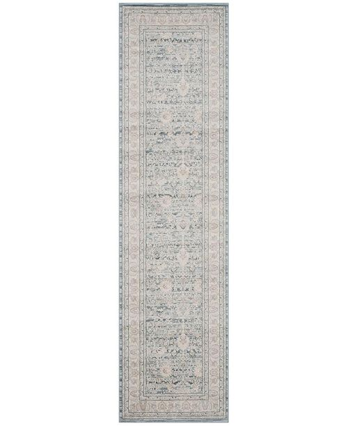 "Safavieh Archive Blue and Grey 2'2"" x 8' Runner Area Rug"