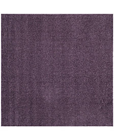 "Safavieh Arizona Shag Purple 6'7"" x 6'7"" Sisal Weave Square Area Rug"
