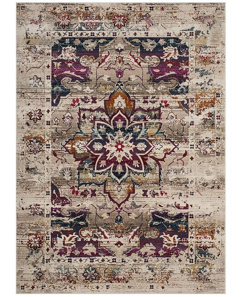 "Safavieh Baldwin Cream and Fuchsia 5'1"" x 7'6"" Area Rug"