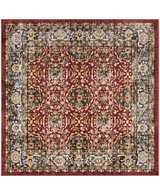 "Safavieh Bijar Red and Royal 6'7"" x 6'7"" Square Area Rug"