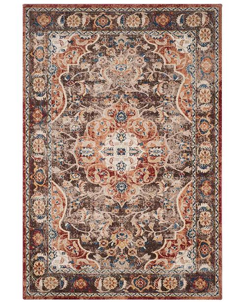 "Safavieh Bijar Brown and Rust 5'3"" x 7'6"" Area Rug"