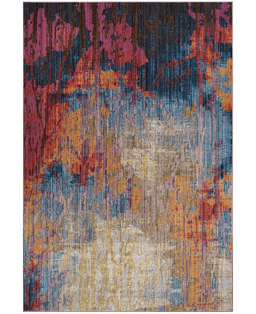 "Safavieh Bristol Blue and Rust 5'1"" x 7'6"" Area Rug"
