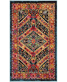 Safavieh Cherokee Turquoise and Light Orange 3' x 5' Area Rug