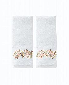 Misty Floral 2 Piece Hand Towel Set