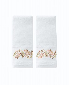 Misty Floral 2 Piece Hand Towel Set