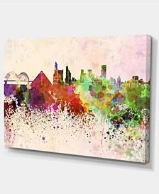 "Designart Memphis Skyline Cityscape Canvas Artwork Print - 32"" X 16"""