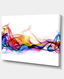 "Designart Abstract Smoke Contemporary Artwork - 32"" X 16"""